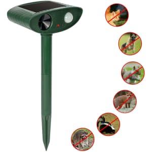 Redeo Solar Ultrasonic Animal Repeller for $23