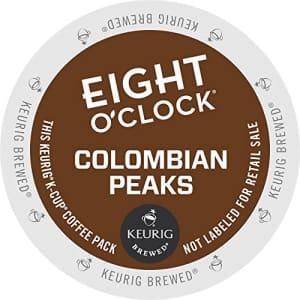 Eight O'Clock Coffee Colombian Peaks, Single-Serve Keurig K-Cup Pods, Medium Roast Coffee, 72 Count for $32