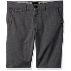 Quiksilver Boys' Big New Everyday Union Stretch Youth Walk Short, Dark Grey Heather, 23/10S for $40