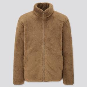 Uniqlo Men's Fluffy Yarn Fleece Full-Zip Jacket for $20
