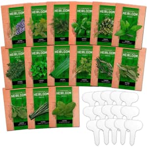Home Grown Heirloom Herb Seeds 15-Pack for $21 via Sub & Save