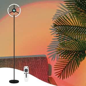 CrazCalf LED Sunset Floor Lamp for $45