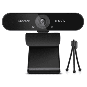 Tenvis 1080P Webcam with Mic and Tripod for $18