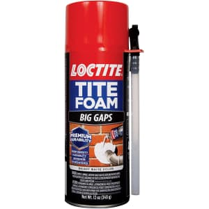 Loctite Tite Foam Big Gaps Foam Sealant 12-oz. Can for $7