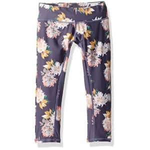 O'NEILL Girls' Big Freefall Capri Activewear Leggings, Multi, 7 for $37