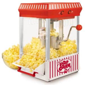 Nostalgia Vintage Collection 10-Cup Kettle Popcorn Machine for $54
