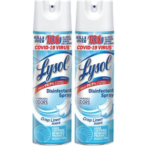 Lysol Disinfectant Spray 19-oz. Can 2-Pack for $9 via Sub & Save