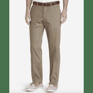 Eddie Bauer Men's Dress Performance Flat-Front Khakis for $20