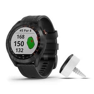 Garmin Approach S40 Bundle, Stylish GPS Golf Smartwatch, Includes Three CT10 Club Trackers, Black for $300