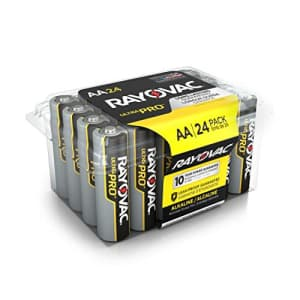 Rayovac AA Batteries, Ultra Pro Alkaline AA Cell Batteries (24 Battery Count) for $19