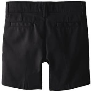 Dickies Girl Big Girls' Flex Waist Slim Fit Flat Front Short, Black, 10 for $18