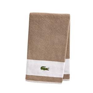 """Lacoste Match Bath Towel, 100% Cotton, 600 GSM, 30""""x52"""", Sand for $47"""