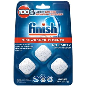 Finish In-Wash Dishwasher Cleaner 3-Pack for $4.29 via Sub & Save