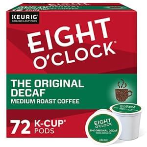 Eight O'Clock Coffee The Original Decaf, Single-Serve Coffee K-Cup Pods, Medium Roast, 72 Count for $20