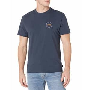 Billabong Men's Short Sleeve Premium Logo Graphic Tee T-Shirt, Navy Access, MD for $18
