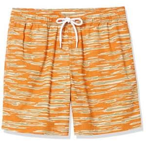 """Goodthreads Men's 7"""" Inseam Swim Trunk, Camo Stripe Print, Small for $15"""