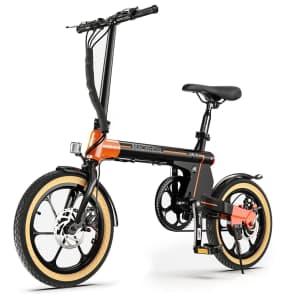 "Macwheel 16"" Folding Electric Bike for $450"
