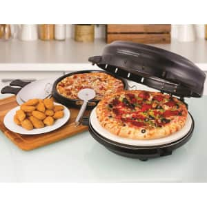 """Euro Cuisine 12"""" Electric Rotating Pizza Maker for $113"""