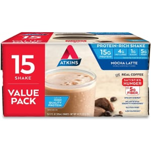 Atkins Gluten Free Protein-Rich Shake 15-Count for $14 via Sub & Save