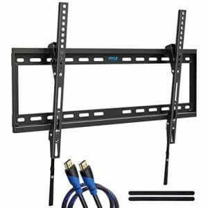 """Pyle Tilting Wall Mount TV Bracket - Heavy Duty Universal Flat Screen TV Wall Mount - Mounts 42-84"""" for $39"""
