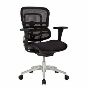 Realspace WorkPro 12000 Series Ergonomic Mesh/Fabric Mid-Back Chair, Black/Chrome for $380