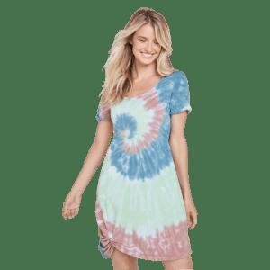 Venus Women's Tie Dye Knotted Lounge Dress for $25
