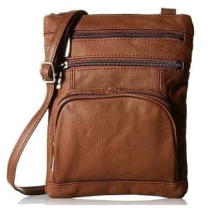 Leather Crossbody Bag with Shoulder Strap for $15