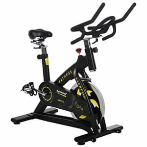 Soozier Fitness Belt Drive Exercise Bike with 40lbs Flywheel Cycling Stationary Cardio Workout Home for $235