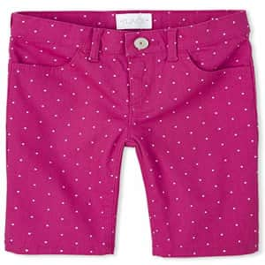 The Children's Place Girls' Slim Solid Skimmer Shorts, Hawaiian Hibiscus, 6X/7S for $6