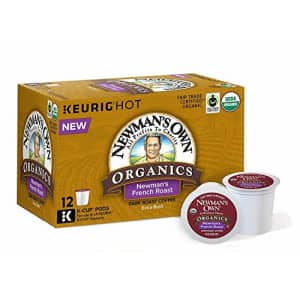 Newman's Own Organics French Roast, Single-Serve Keurig K-Cup Pods, Dark Roast Coffee, 72 Count for $46