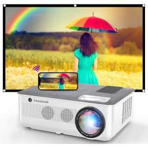 Fangor 1080p Bluetooth Projector w/ Screen for $230
