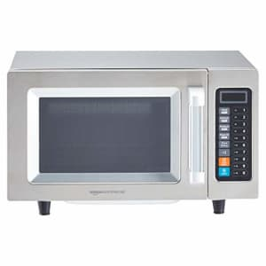 AmazonCommercial Microwave Oven with Membrane Control, Stainless Steel, 1000-Watts, 0.9 Cubic Feet for $197