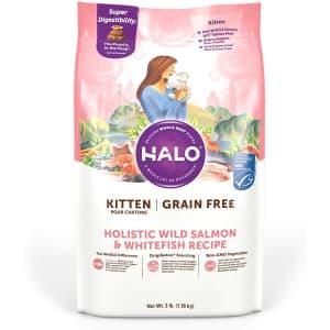 Halo Grain-Free Dry Kitten Food 3-lb. Bag for $9.97 via Sub & Save