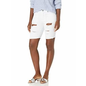 V.I.P. JEANS Women's Super Cute Jeans Shorts Acid Washed, Ripped White, 13 for $20