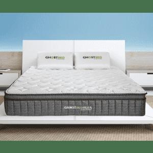 """GhostBed Flex 13"""" Medium-Firm Gel Memory Foam Pillow-Top Hybrid Queen Mattress for $784"""