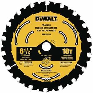 DEWALT DWA161218 6-1/2-Inch 18-Tooth Circular Saw Blade for $15