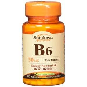 Sundown Naturals Sundown B-6 50 mg Tablets 150 Tablets for $10