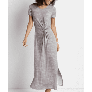 Maurices Women's 24/7 Knot Front Maxi Dress for $10