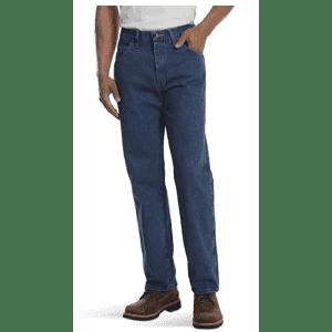 Rustler Classic Men's Relaxed 5-Pocket Jeans for $13