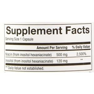 Natural Factors - Vitamin B3 No Flush Niacin 500mg, Supports Cholesterol Metabolism, 90 Capsules for $17