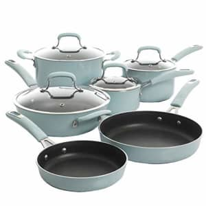 Kenmore Andover Nonstick Platinum Forged Aluminum Cookware Set, 10-Piece, Glacier Blue for $161