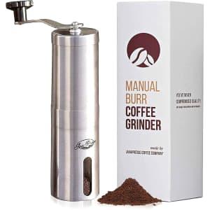 JavaPresse Manual Coffee Grinder for $30