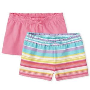The Children's Place Toddler Girls Swing Shorts 2-Pack, Bright Pink, 2T for $13