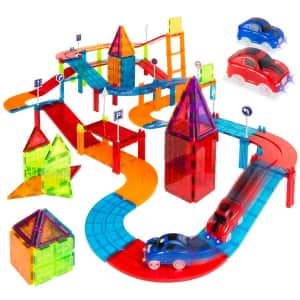 Best Choice Products 105-Piece Magnetic Racetrack Tiles Set for $40