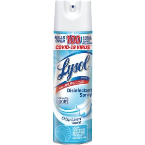Lysol 12.5-oz. Disinfectant Spray for $5