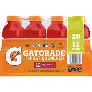 Gatorade Thirst Quencher, Fruit Punch, 20 Ounce Bottles (Pack of 12) for $28
