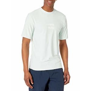 Billabong Men's Standard Classic Loose Fit Short Sleeve Rashguard Surf Tee Shirt, Seaglass All Day for $26