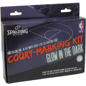 Spalding Basketball Glow-in-the-Dark Court Marking Kit for $6