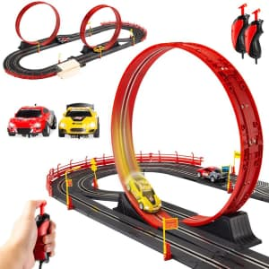 Best Choice Electric Slot-Car Race Track Set for $35