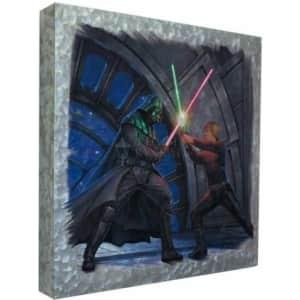 "Thomas Kinkade Studios Star Wars 14"" Metal Box Art for $33"